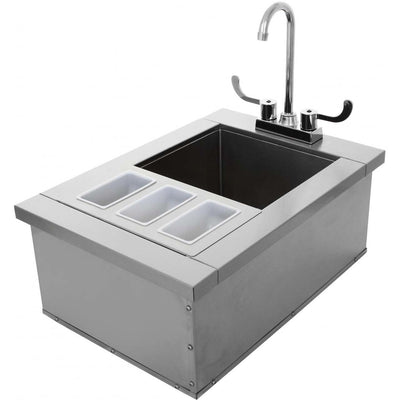 "UOL-400-15DI 15""x24"" ICE STORAGE AND SINK"
