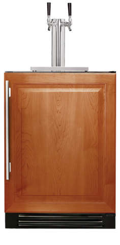 "True 24"" Dual-Tap Beverage Dispenser Overlay Panel Door, Left hinge"