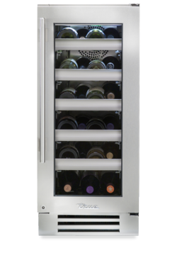 "True 15"" Wine Cabinet Stainless Glass Door, Left Hinge"