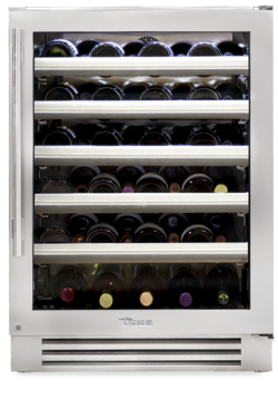 "True 24"" Wine Cabinet Stainless Glass Door, Right Hinge"