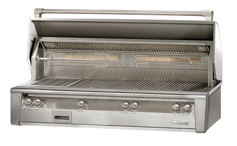 "Alfresco 56"" Built in Grill w/SearZone and Hidden Rotisserie System"