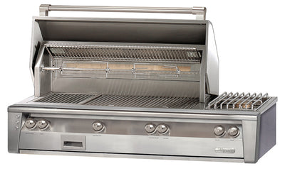"Alfresco 56"" Grill w/ SearZone, Side Burner and Hidden Rotisserie System"