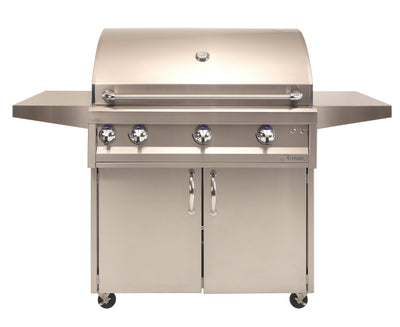 "ARTISAN - 36"" 3 BURNER WITH ROTISSERIE & LIGHT + CART"