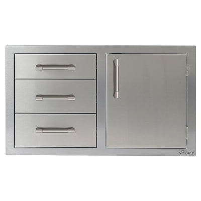 "Alfresco 32"" Combo Unit - 3 Drawers with Single Door on Right"
