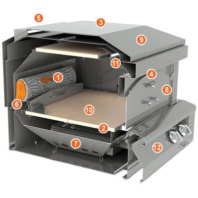 Alfresco Pizza Oven For Built-In Application