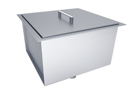 "Over/Under 20"" x 12"" Height Single Basin Sink with Cover"