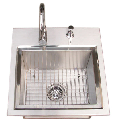 Sunstone Premium Drop In Sink with Hot and Cold water Faucet & Cutting Board