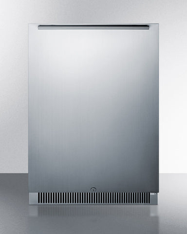 "Summit 24"" 5.6 cu.ft. Outdoor Rated Stainless Steel Refrigerator"