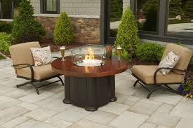 Artisan Colonial Fire Pit Table- chat, dining, pub height
