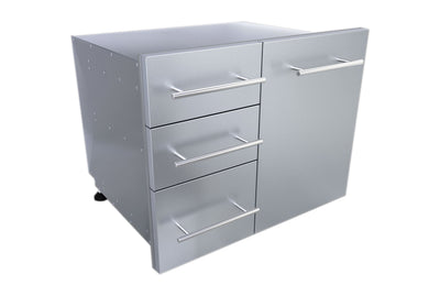 "Sunstone Raised Style 30"" Liquid Propane Triple Drawer Combo with Self-Leveling Legs"