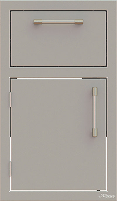 "Alfresco 17"" Combo Unit - One Drawer w/ Door Open Left"