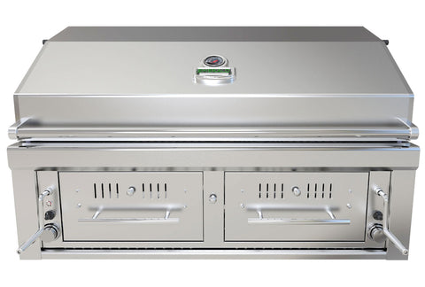 "Sunstone 42"" Gas Hybrid Dual Zone Charcoal/Wood Burning Grill"