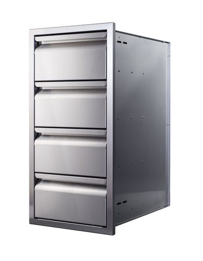 "15"" Quadruple-Stack Access Drawers"