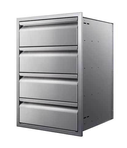 "21"" Quadruple-Stack Access Drawers"