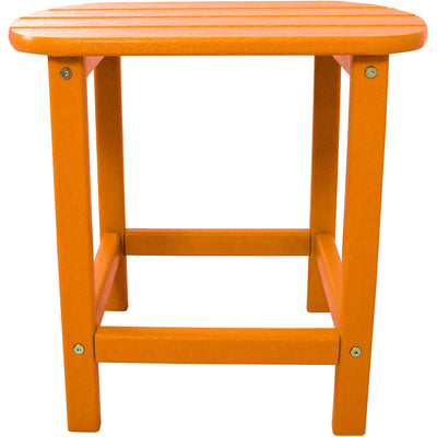 "Hanover All-Weather 18"" Side Table - HVSBT18TA - Tangerine"