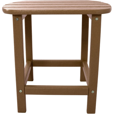 "Hanover All-Weather 18"" Side Table - HVSBT18TE - Teak"