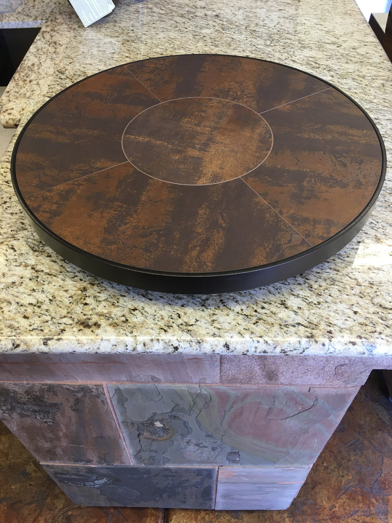 #P-24LS OW Lee Lazy Susan Metallic Brown- Clearance ( 1 left )