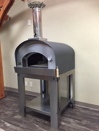 Sole Italia Wood Fired Pizza Oven on Cart