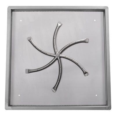 "The Outdoor Plus Square Drop-In Pan & Triple ""S"" Burner-LC Certified"