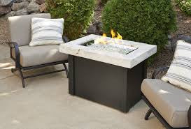 Providence Fire Pit Table with White Onyx Top