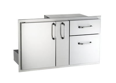 "18-36-SSDD  18"" x 36"" Door with Double Drawer & Platter Storage"