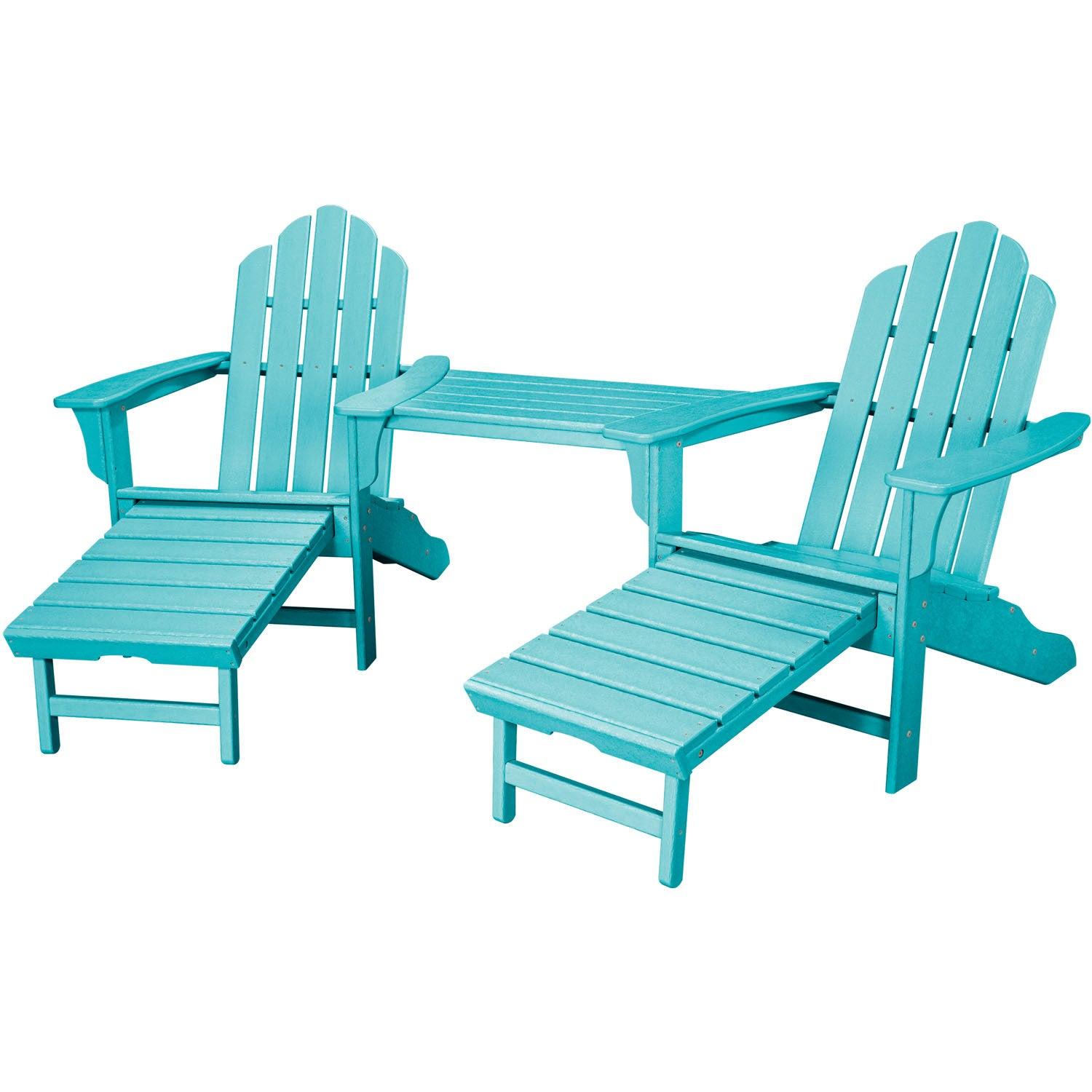 Merveilleux Hanover All Weather Rio 3pc Tete A Tete: 2 Adirondack Chair W/ Ottoman,  Tete A Tete Table   RIO3PC OTT AR   Aruba