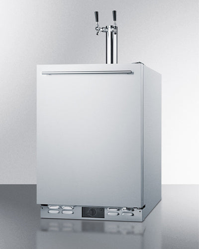 "Summit 24"" Outdoor Rated Dual Tap Kegerator"