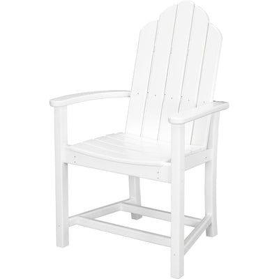 Hanover All-Weather Siesta Key 5pc Dining Set: 4 Adirondack Dining Chairs, Table - SIESTAKEY5PC - White