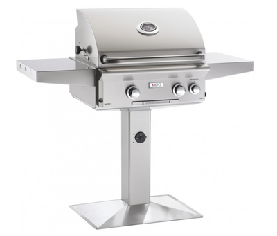 "AOG 24"" In-Ground / Patio Post Mount Grills, T-Series - Natural Gas / Liquid Propane"
