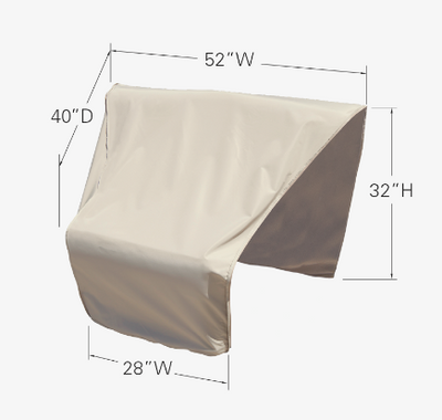 Modular Protective Furniture Cover - Wedge End Sectional (Left Facing)