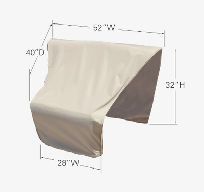 Modular Protective Furniture Cover - Wedge Corner Sectional (Center)