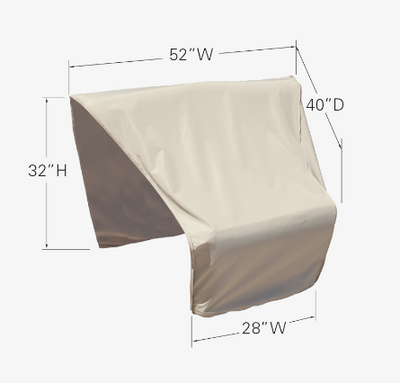 Modular Protective Furniture Cover - Wedge Left Sectional (Right Facing)