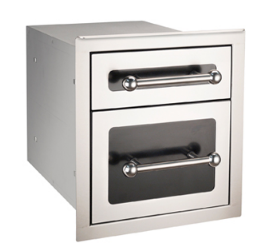 FireMagic Black Diamond Double Drawer