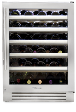 "True 24"" Wine Cabinet Stainless Glass Door, Left Hinge"
