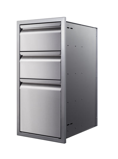 "15"" Triple-Stack Access Drawers"