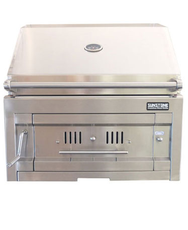 "Sunstone 28"" Dual Zone 304 Stainless Steel Charcoal Grill"