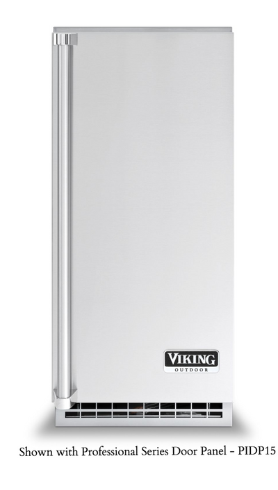 "Viking 15"" Outdoor Nugget Ice Machine with Drain Pump"