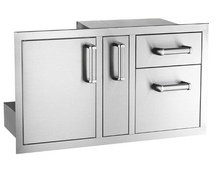 Access Door with Platter Storage & Double Drawer - 53816S