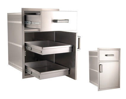 Flush Mounted Large Pantry Door/Drawer Combo - 54020S