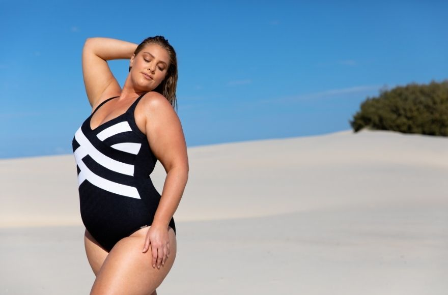 Acapulco Black and White Criss Cross One Piece