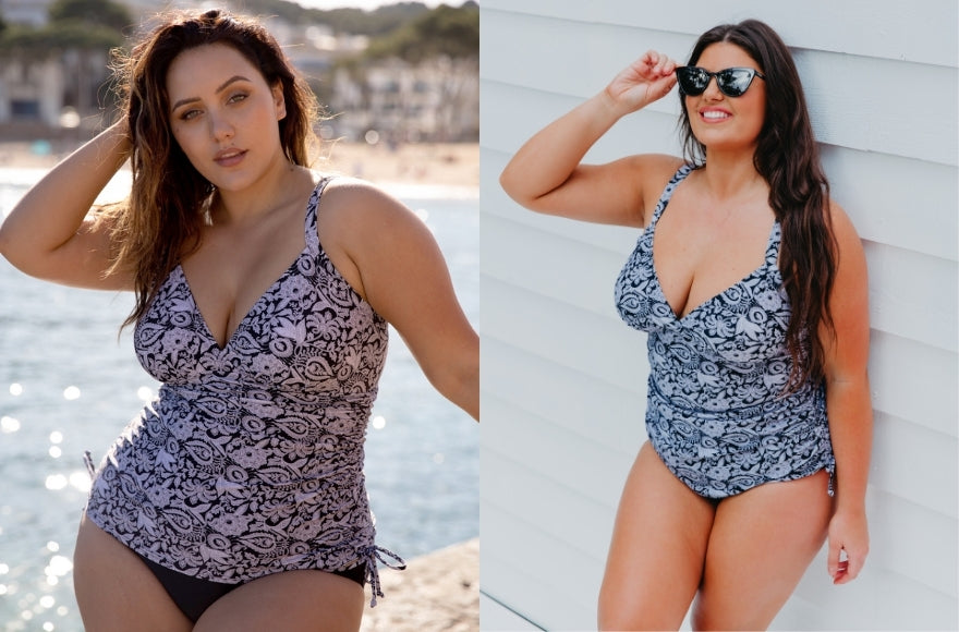 Models wearing Tankini and One Piece