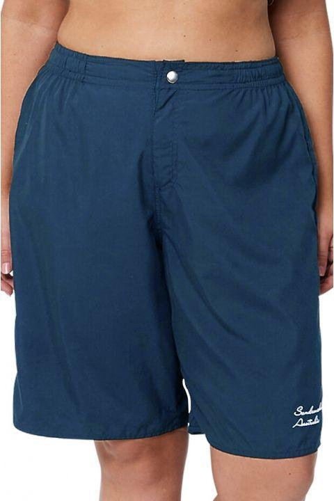Sundrenched Plain Navy Board Short Bottom