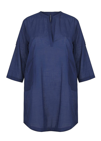 navy cotton beach cover up