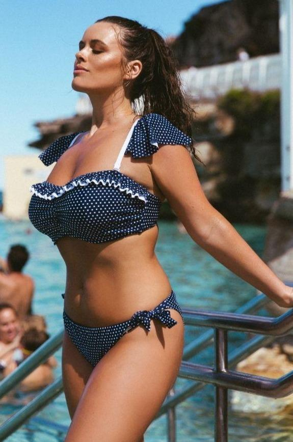 Navy and White Dots | Cute Plus Size Bikini Bottom