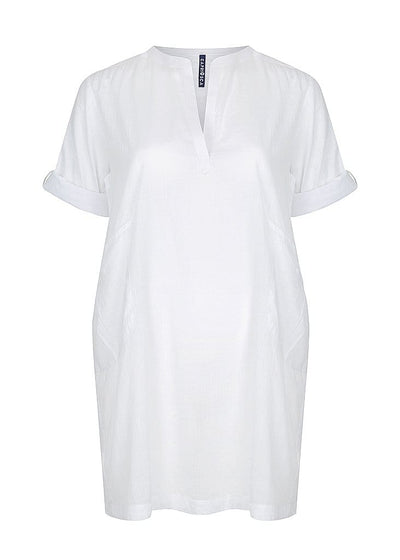White Cover Up Beach Dress