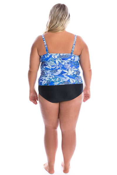 Hawaii Blue | Plus Size Bandeau Swimsuit Top