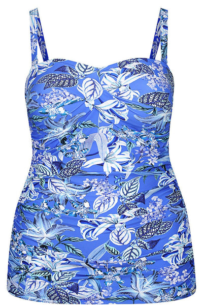 Hawaii Blue | Bandeau Swimsuit Size 20