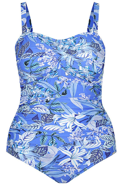 Hawaii Blue | Bandeau One Piece Swimsuits Plus Size