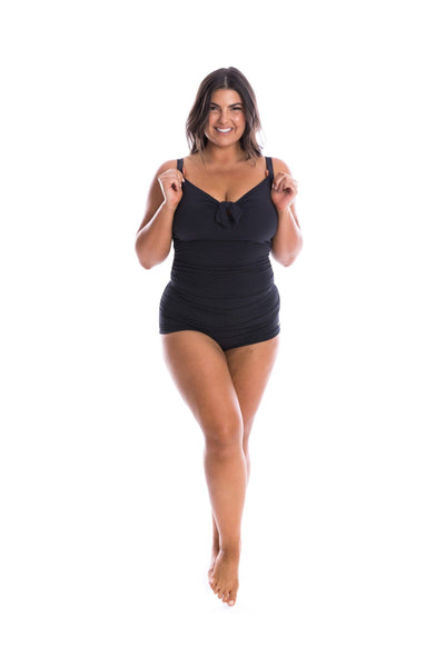 Honey Comb | Womens Black One Piece Swimsuit