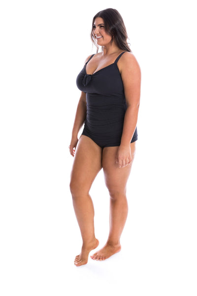 Honey Comb | Black One Piece Swimsuit Big Bust